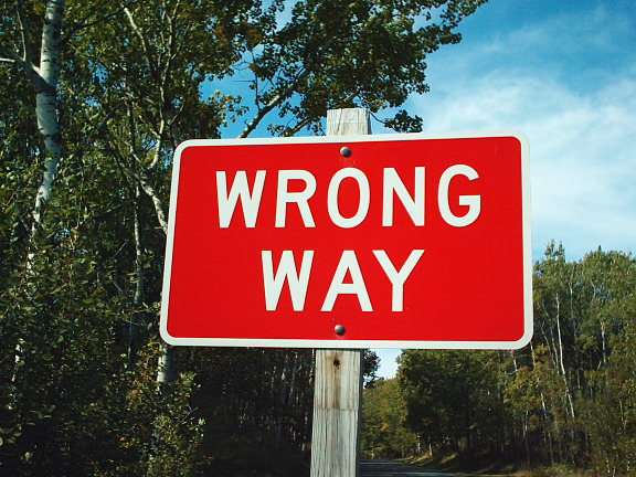 wrong way