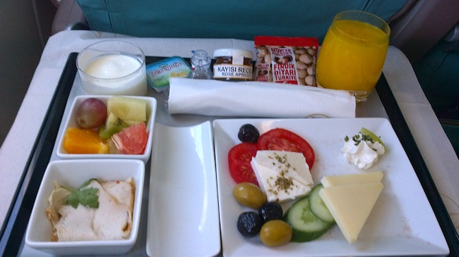 desayuno avion turkish airlines