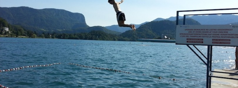 Trampolin lago Bled