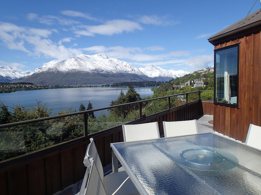 Vistas a Queenstown desde el Bed and Breakfast Larch Hill