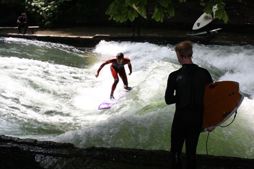 Surferos en Munich