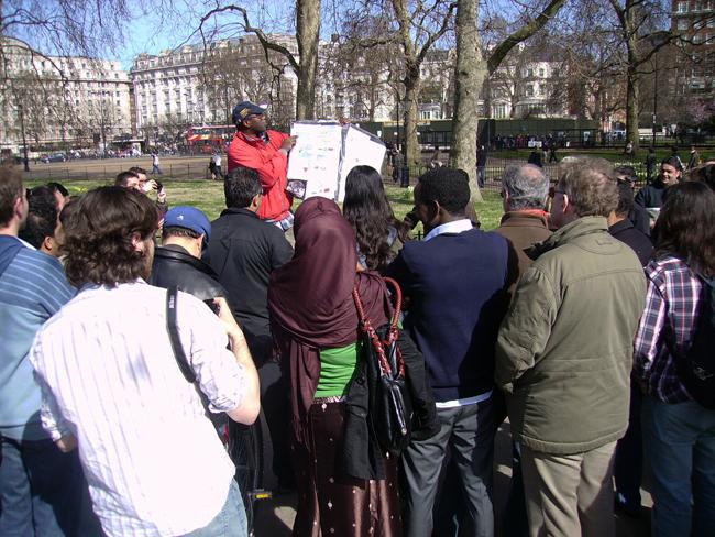 Speakers' corner Londres