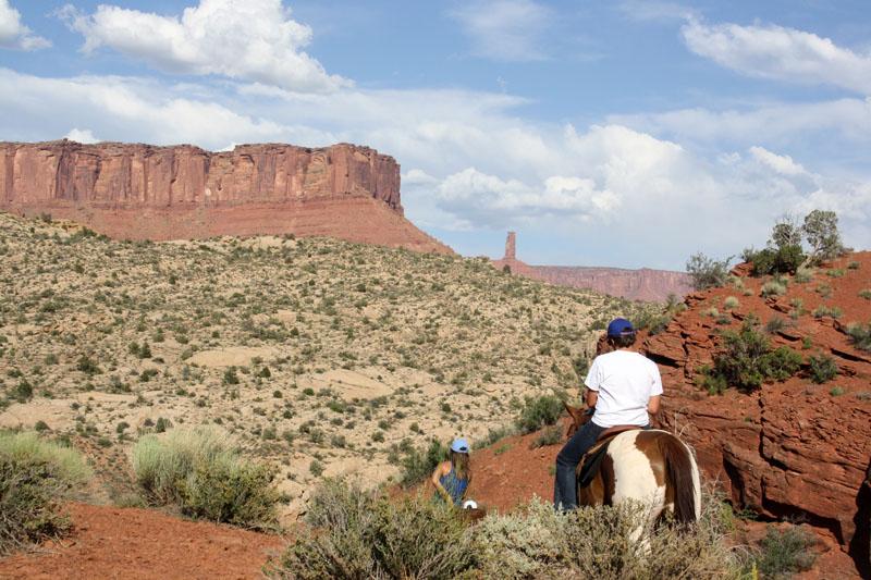 Ruta a caballo  por el far west