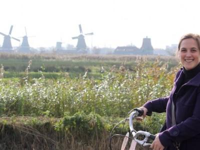 Molinos de viento cerca de Amsterdam