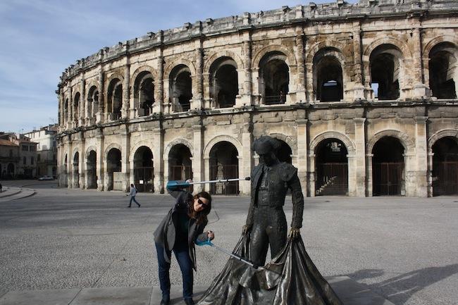 Torero anfiteatro Nîmes