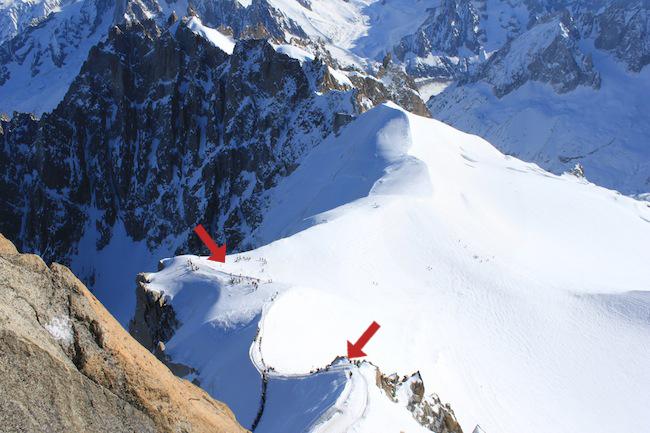 Vallee Blanche descenso inicio