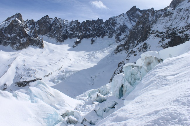 vallee blanche montblanc glaciar