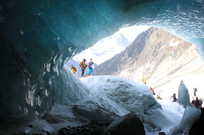 mer de glace vallee blanche cueva de hielo