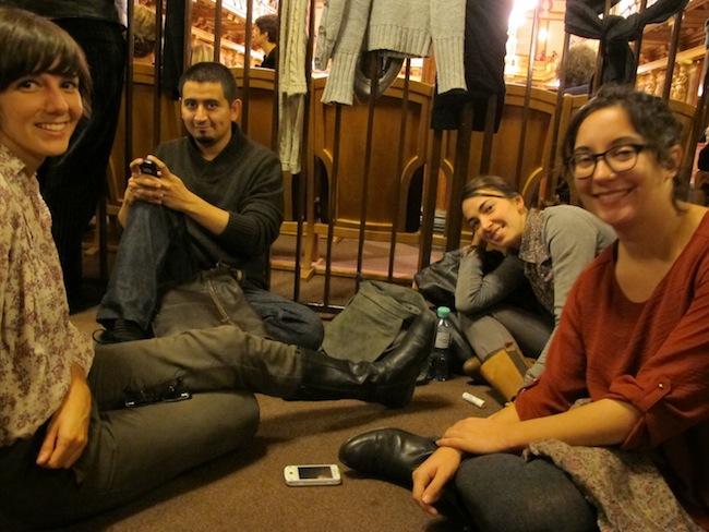 Esperando en el Musik Verein