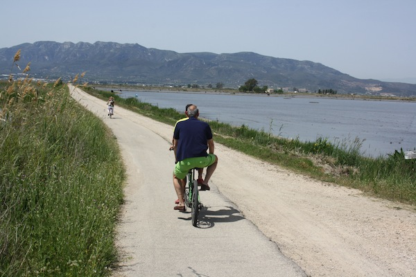 en bici por delta ebro