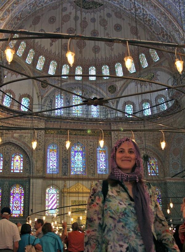 istanbul mezquita azul cabeza tapada