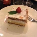 Okarina restaurant Bled. cake bled