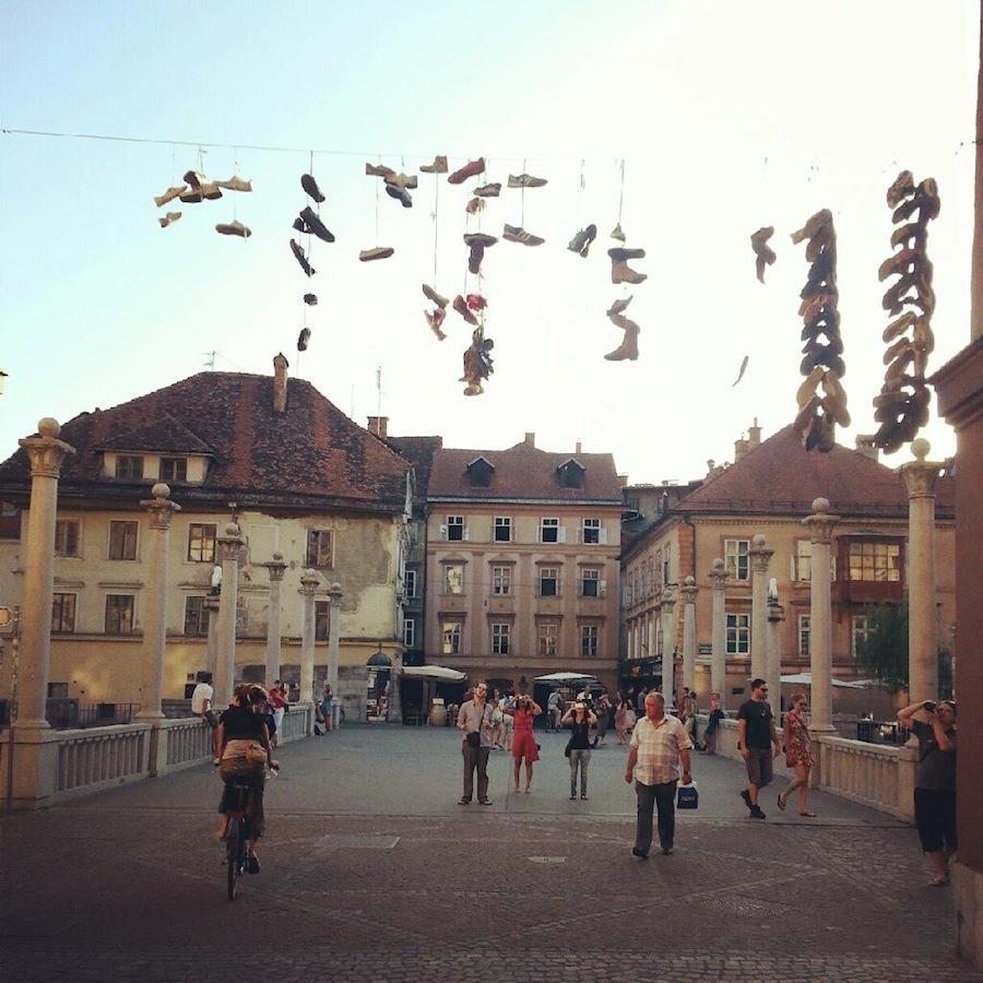 puente de los zapatos liubliana