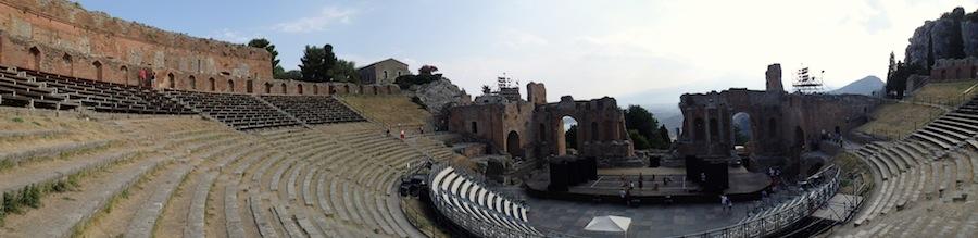 teatro taormina panoramica