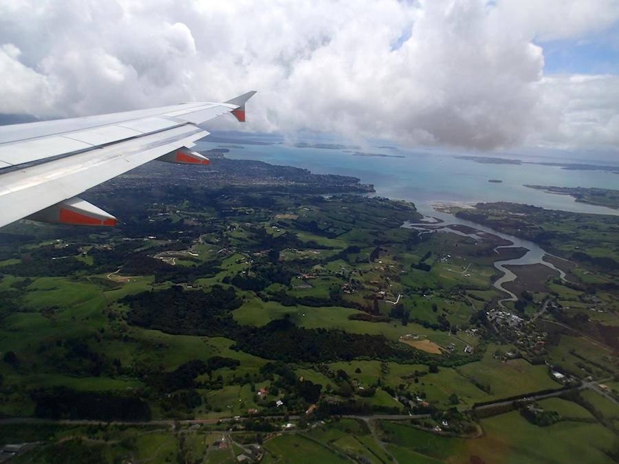 nueva zelanda desde un avion
