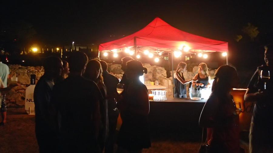 Maridaje vino y música durante el concierto Blaumut Festival Sons del Món 2015