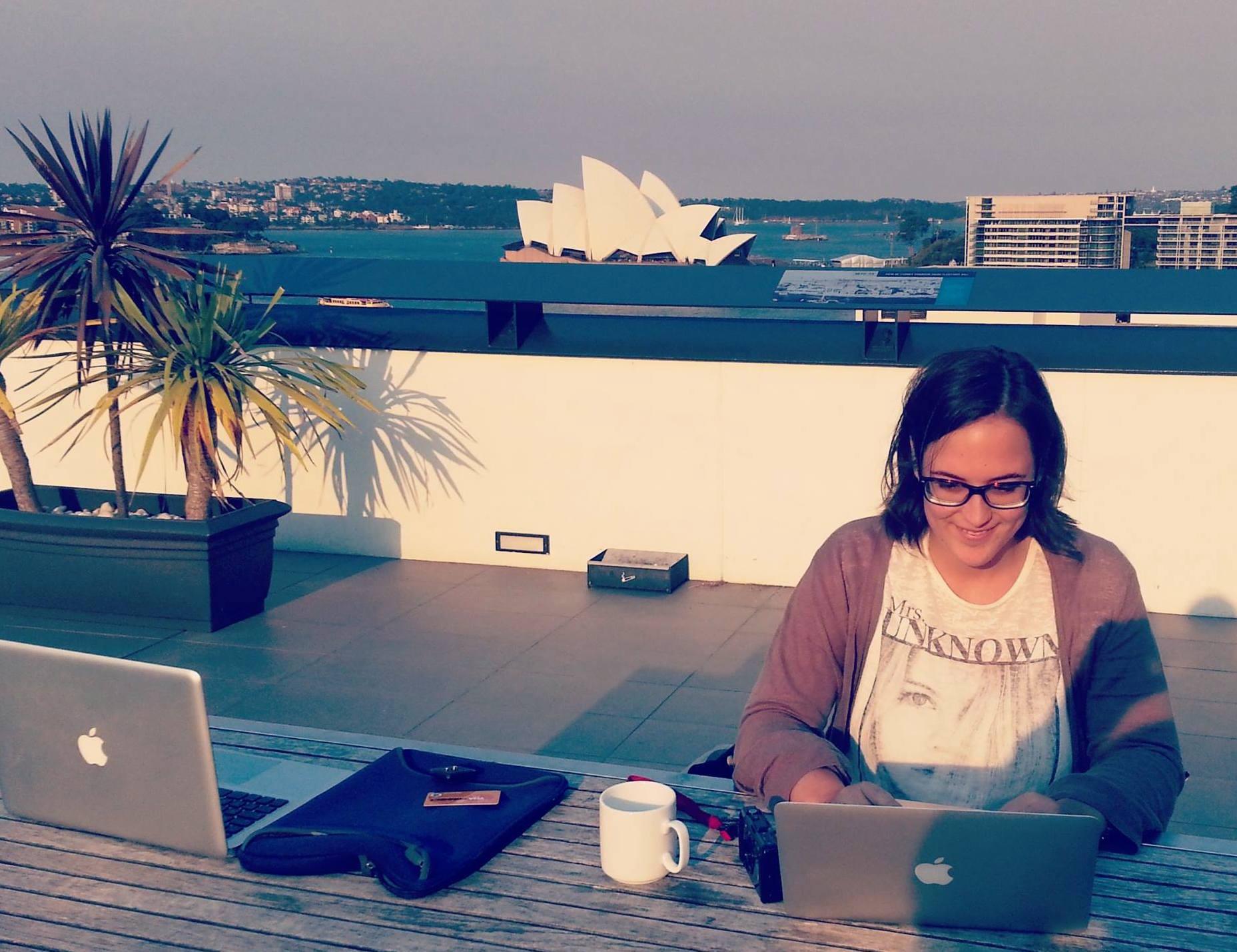 Tele-trabajando desde Sydney