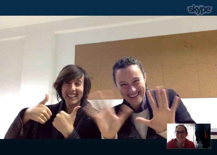 Videoconferencia por Skype con compañeras de Andalucía