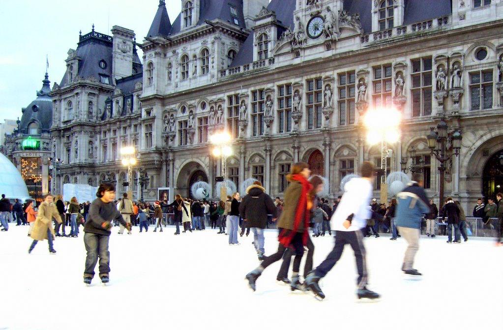 Pista Patinaje sobre Hielo en Hotel de Ville de Paris
