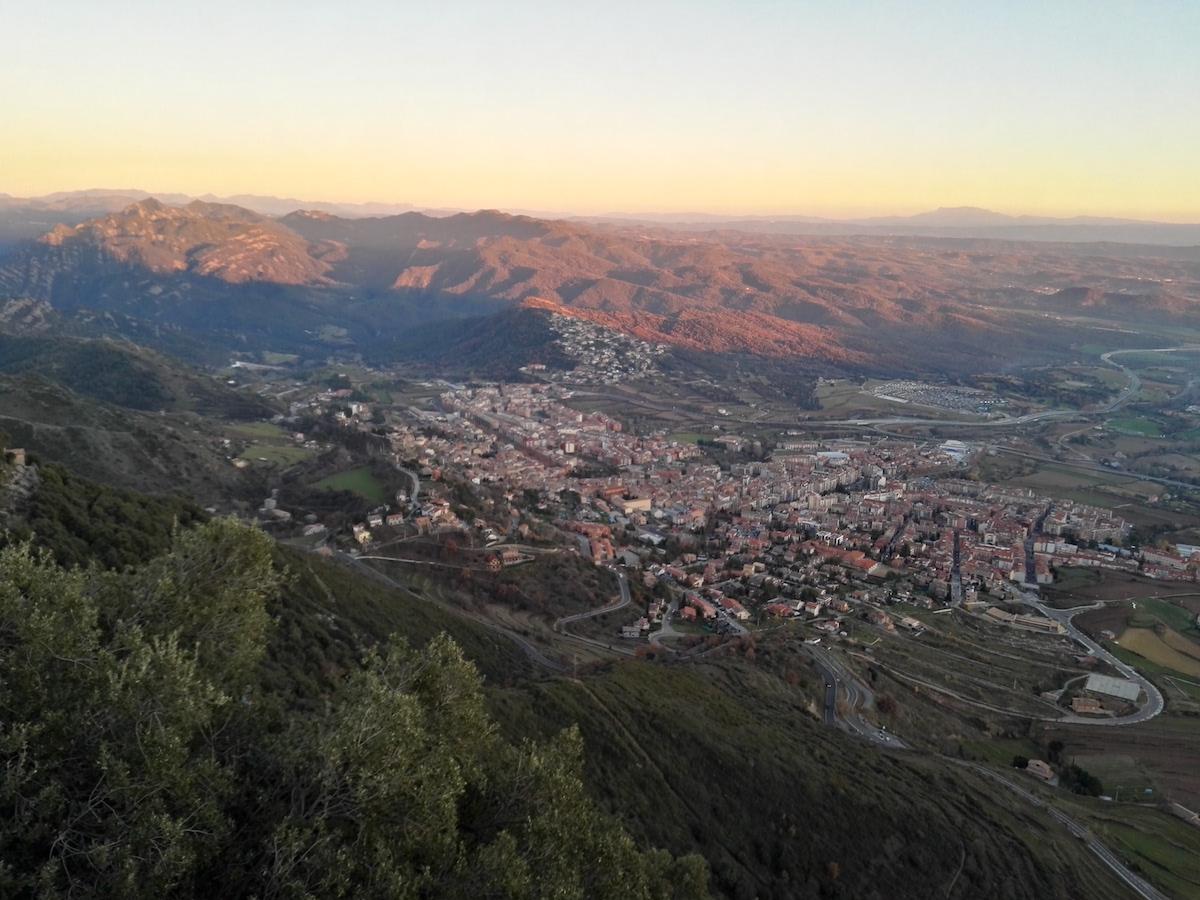 Vistas de Berga desde el Santuario de Queralt